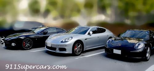 Porsche911 Carrera PanameraS Aston Martin VanquishS ポルシェ911 カレラ パナメーラS アストンマーティン ヴァンキッシュS
