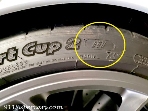ポルシェ認定タイヤ GT3 991 ミシュラン パイロットスポーツカップ2